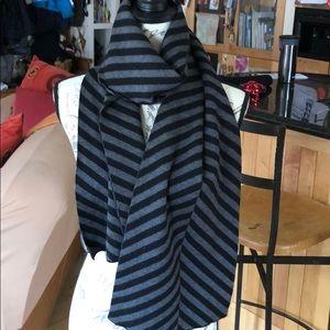 Givenchy black & grey diagonal striped wool scarf